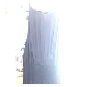 NWOT Roxy L Navy Blue full length maxi with slits